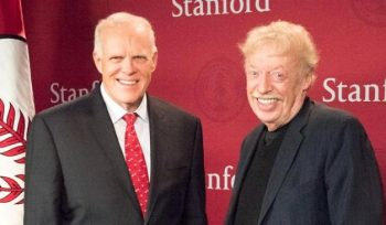 Alphabet Chairman John Hennessy and Nike talks about helping students worldwide with scholarships at Stanford University