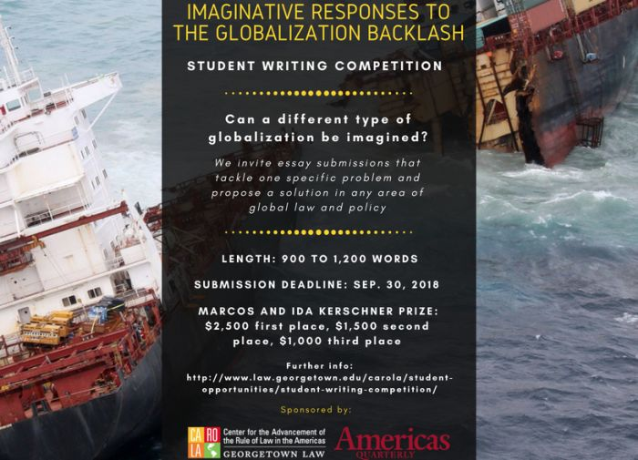 Imaginative Responses to the Globalization Backlash Student Writing Competition