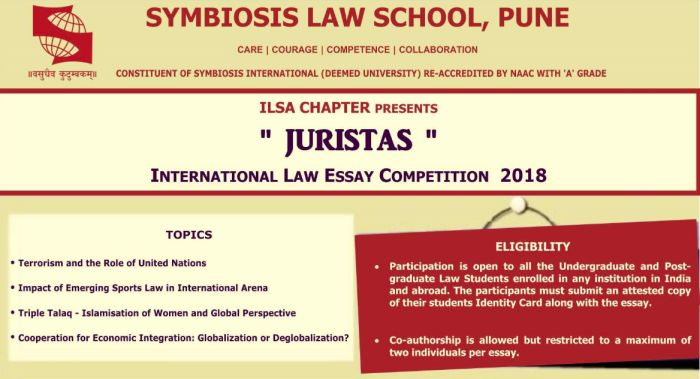 Juristasinternational Law Essay Competition   Helptostudycom  Juristasinternational Law Essay Competition