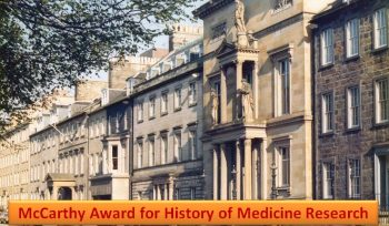 McCarthy Award for History of Medicine Research