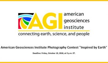 """American Geosciences Institute Photography Contest """"Inspired by Earth"""""""