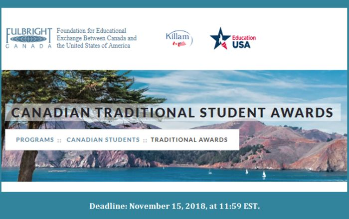 Canadian Traditional Student Awards 2019 Helptostudy Com