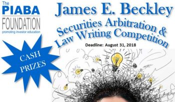James E. Beckley Writing Competition