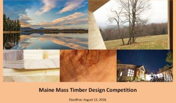 Maine Mass Timber Design Competition