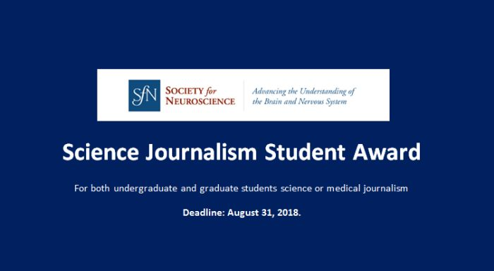 Science Journalism Student Award
