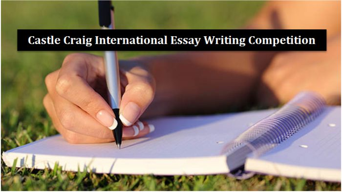 Castle Craig International Essay Writing Competition