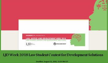LJD Week 2018 Law Student Contest for Development Solutions
