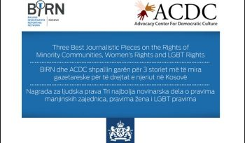 BIRN Kosovo Announces Human Rights Reporting Award Competition