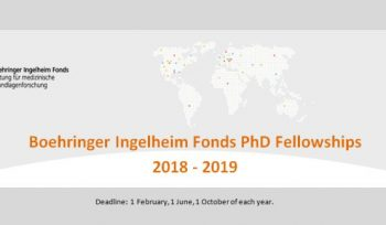 Boehringer Ingelheim Fonds PhD Fellowships