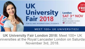 UK University Fair London 2018