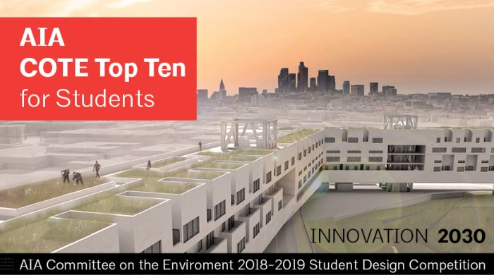 AIA COTE Top Ten for Student Competition: Innovation 2030