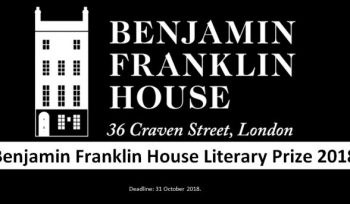 Benjamin Franklin House Literary Prize 2018