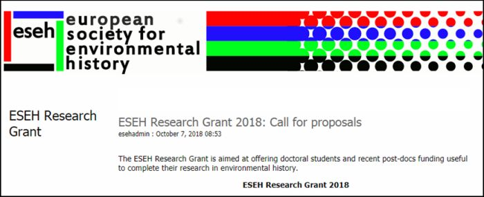 ESEH Research Grant 2018