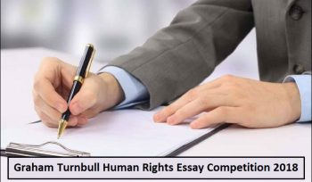 Graham Turnbull Human Rights Essay Competition 2018