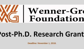 Wenner-Gren Foundation Post-Ph.D. Research Grants