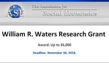 William R. Waters Research Grant