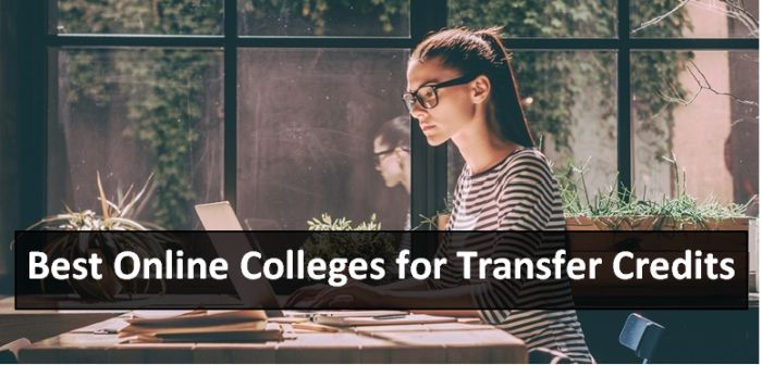 Best Online Colleges for Transfer Credits