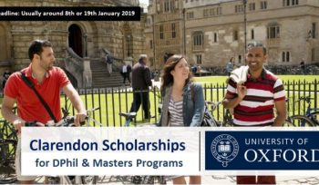 Clarendon Fully Funded International Scholarships 2019