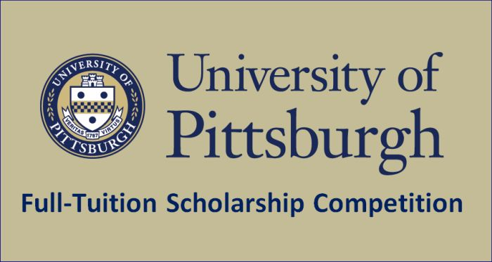 Full-Tuition Scholarship Competition at University of Pittsburgh, USA