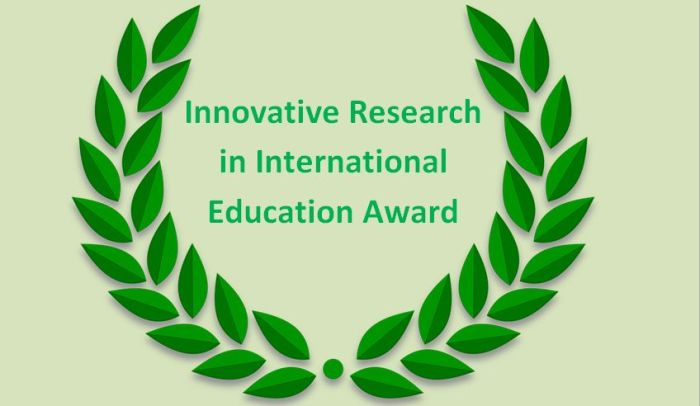 Innovative Research in International Education Award