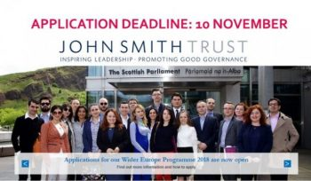 John Smith Trust Wider Europe Fellowship 2019
