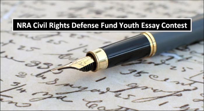 Nra Civil Rights Defense Fund Youth Essay Contest   Helptostudy  Who May Eligible