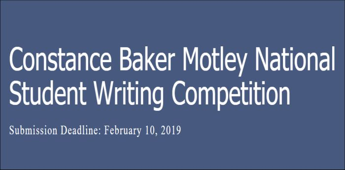 Constance Baker Motley National Student Writing Competition