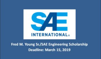 Fred M. Young Sr./SAE Engineering Scholarship