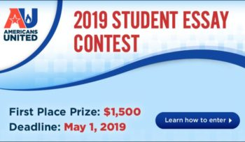 Students Essay Contest at Americans United for Separation of Church and State
